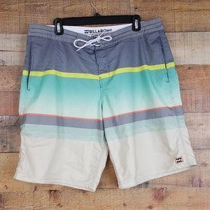 Billabong Low Tides Board Shorts Mens Size 36 Mult